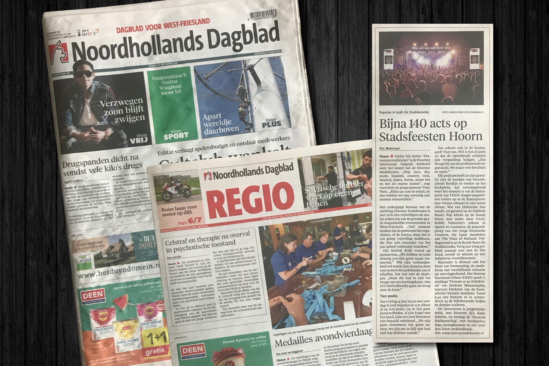 Hoornse Stadsfeesten in Noordhollands Dagblad